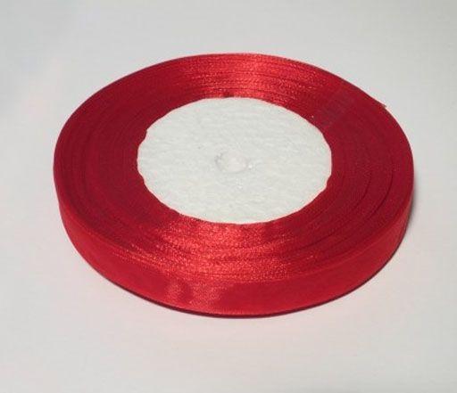 Лента органза 0,6см красная