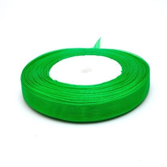 Лента органза 0,6см зеленая