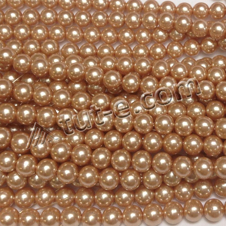 Жемчуг искусственный на нитке коричневатый 500 грамм