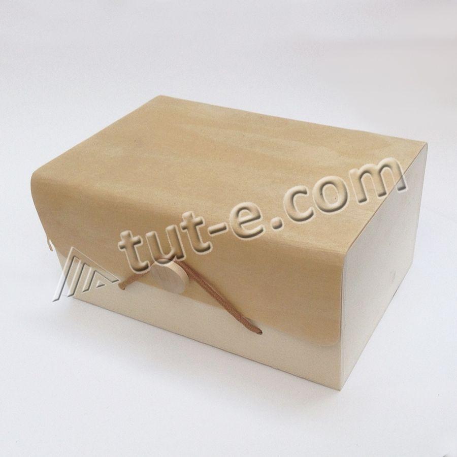 Коробочка из шпона для упаковки 001