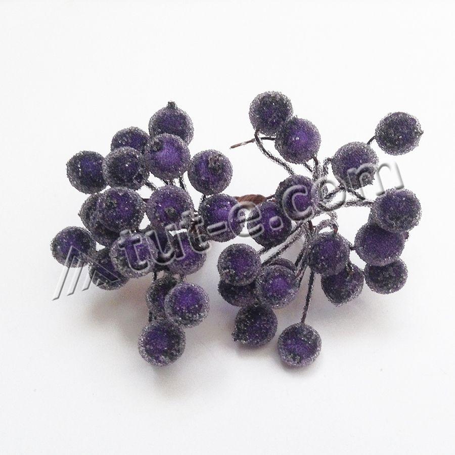 Ягодка калина в сахаре фиолетовая темная