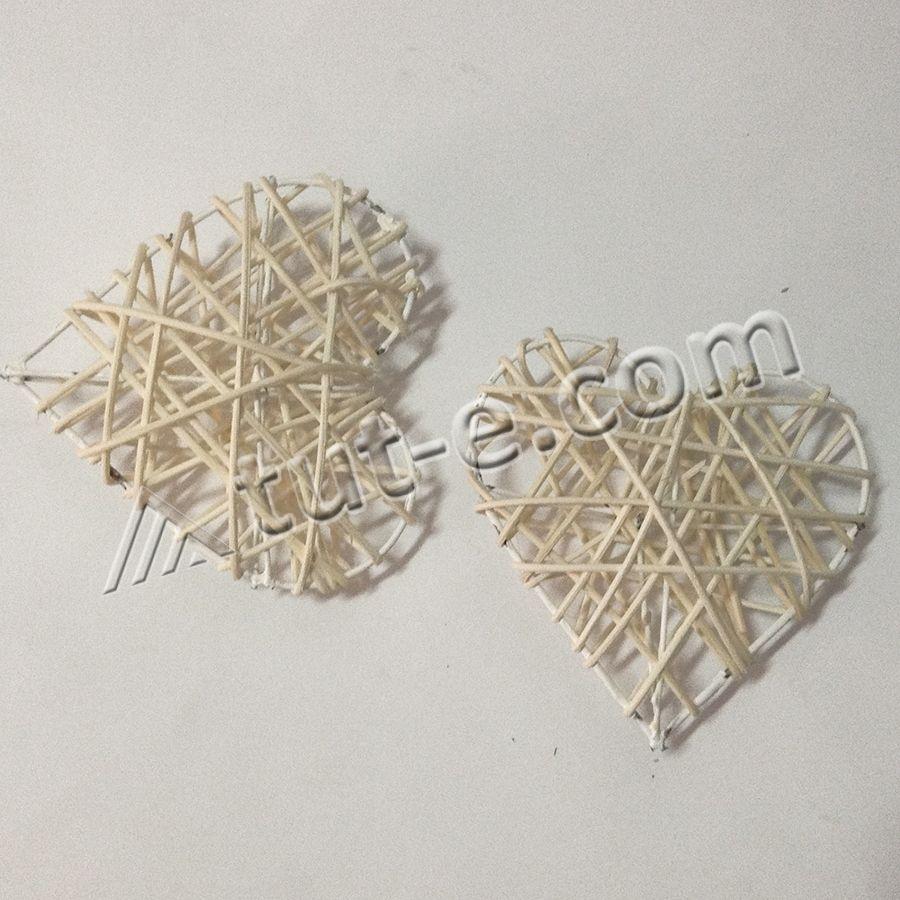 Сердце из ротанга 10см - 1шт