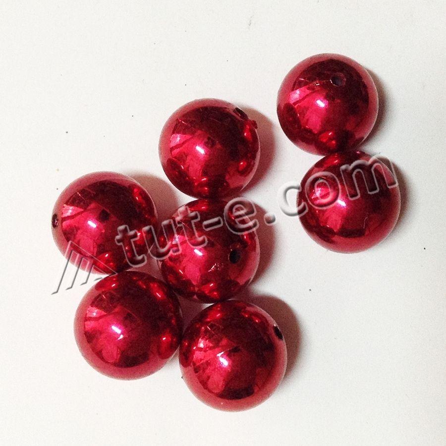 Бусины керамические 2.5см красные