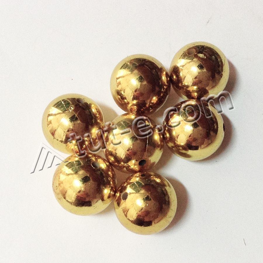 Бусины керамические 2.5см золото