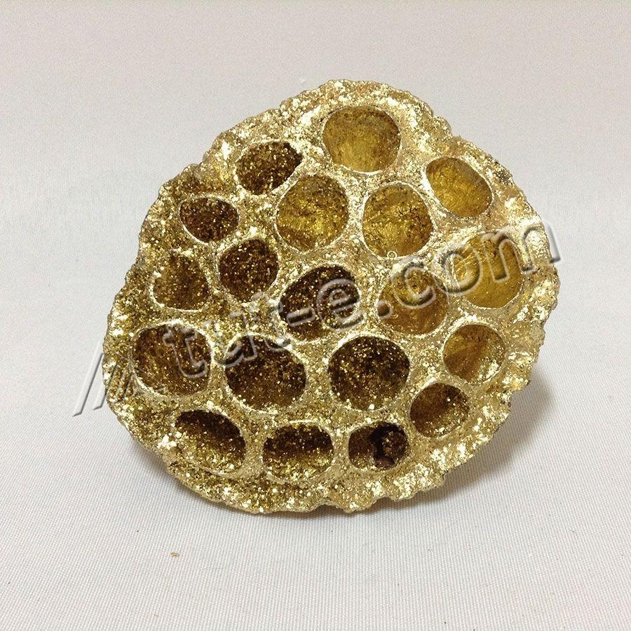 Коробочка лотоса золото