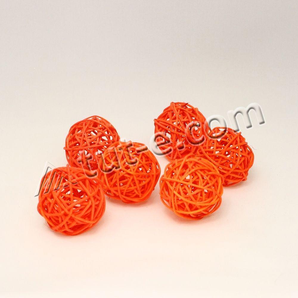 Шары из ротанга оранжевые 5см