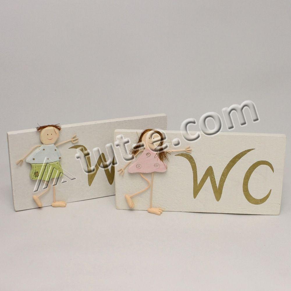 """Таблички """"WC"""" (boy/girl) деревянные 2 шт/наб."""