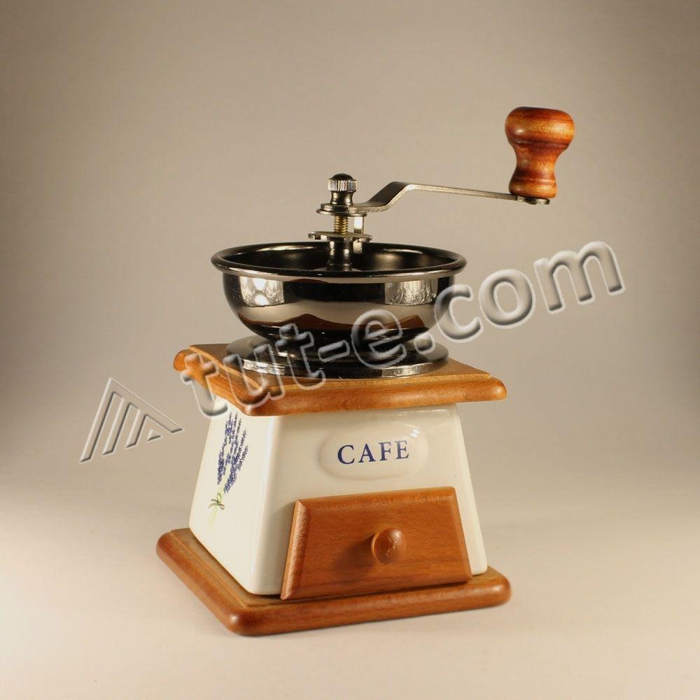 Кофемолка ручная (дерево\\металл\\керамика\\пластик). 1 шт.