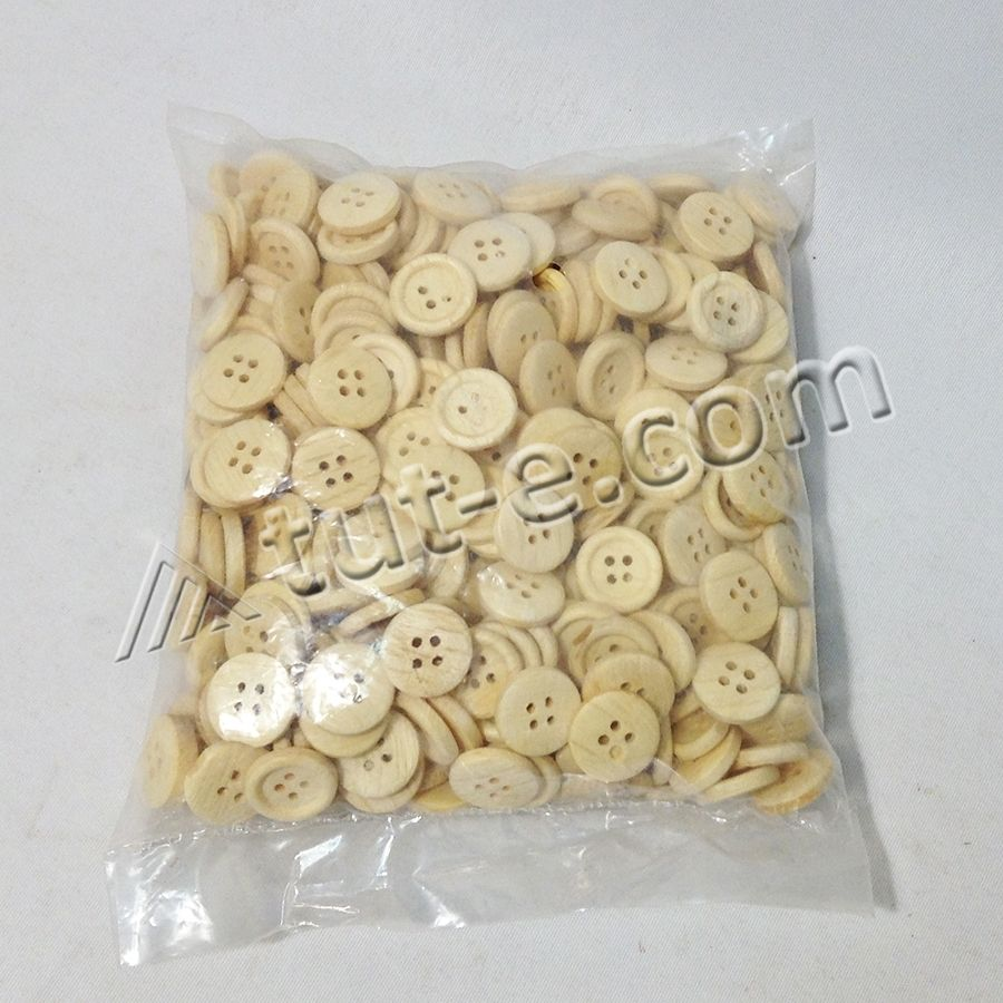 Пуговицы деревянные 1,5см - упаковка 150грамм