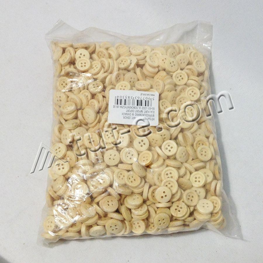 Пуговицы деревянные 1,1см - упаковка 220грамм