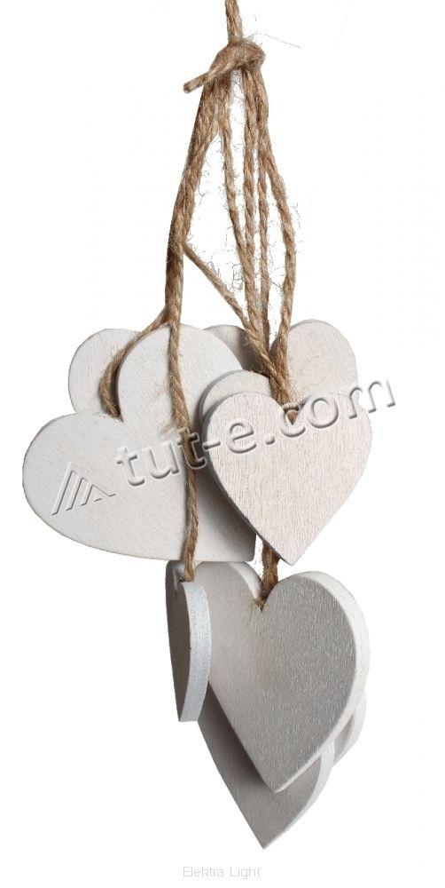 Набор сердечек для творчества двух размеров - 6х6см и 4х4см - 9шт