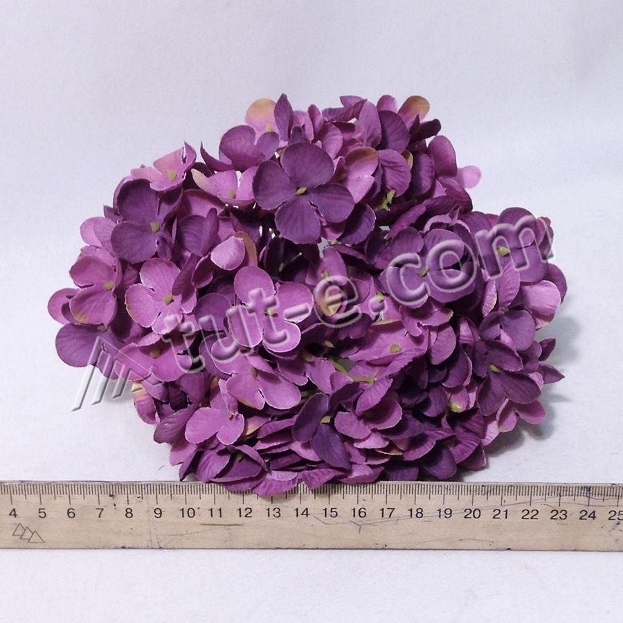 Головка гортензии королевская светло фиолетовая
