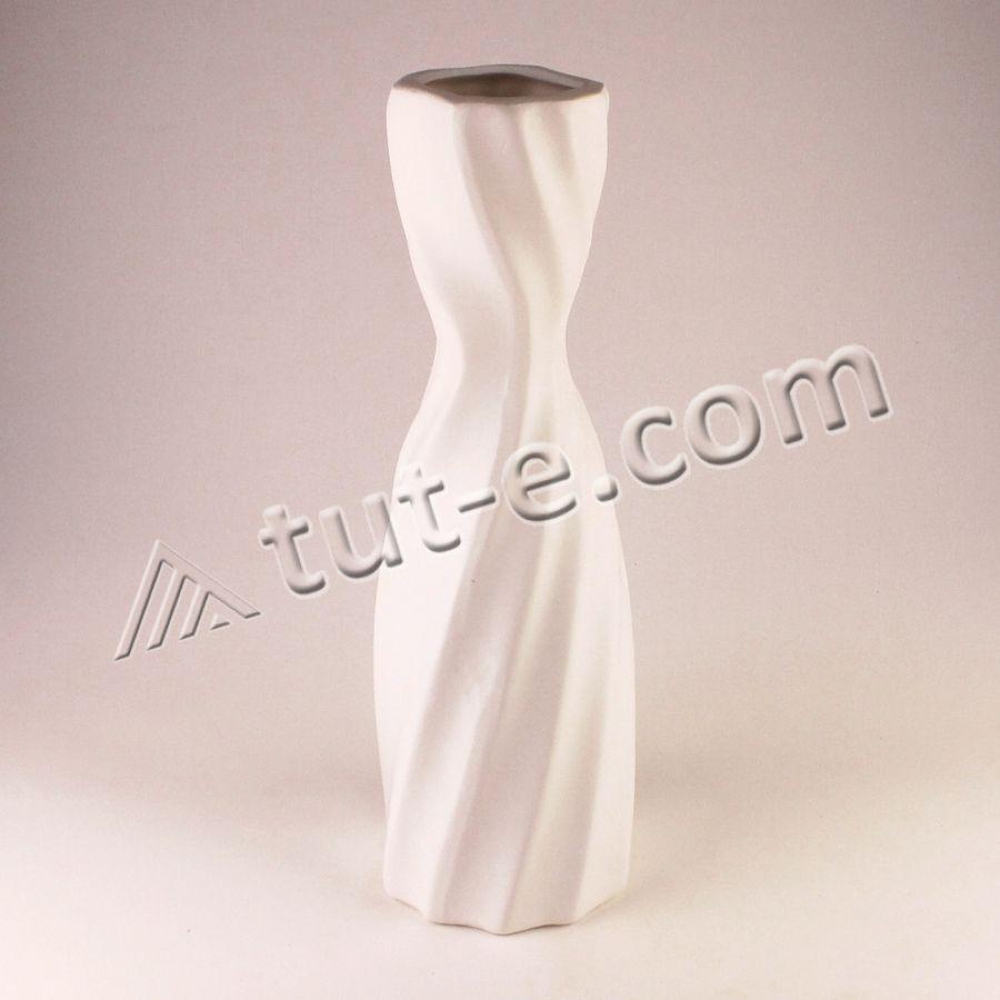 Ваза керамическая белая 27см