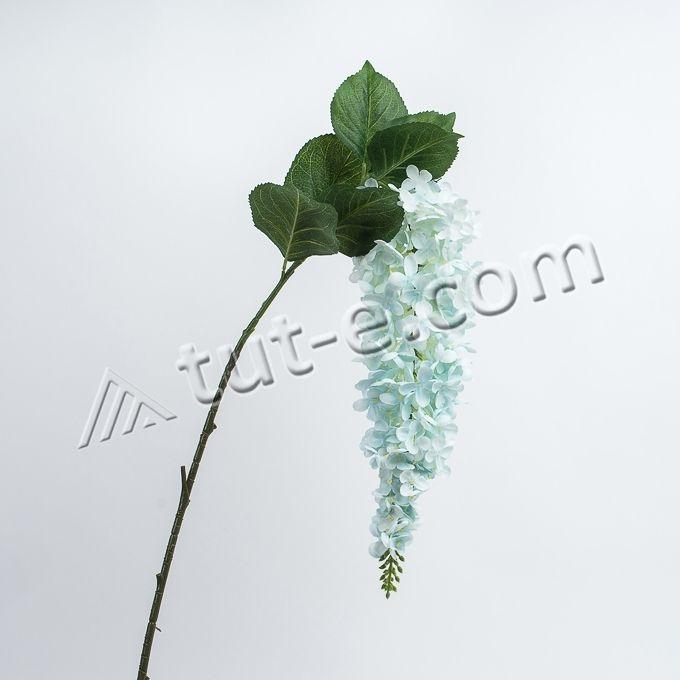 Ветка вьющейся конусообразной гортензии цвет голубой