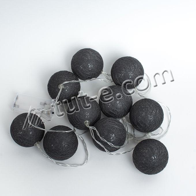 Фонарики на батарейках-10шт- 140см темно-серые