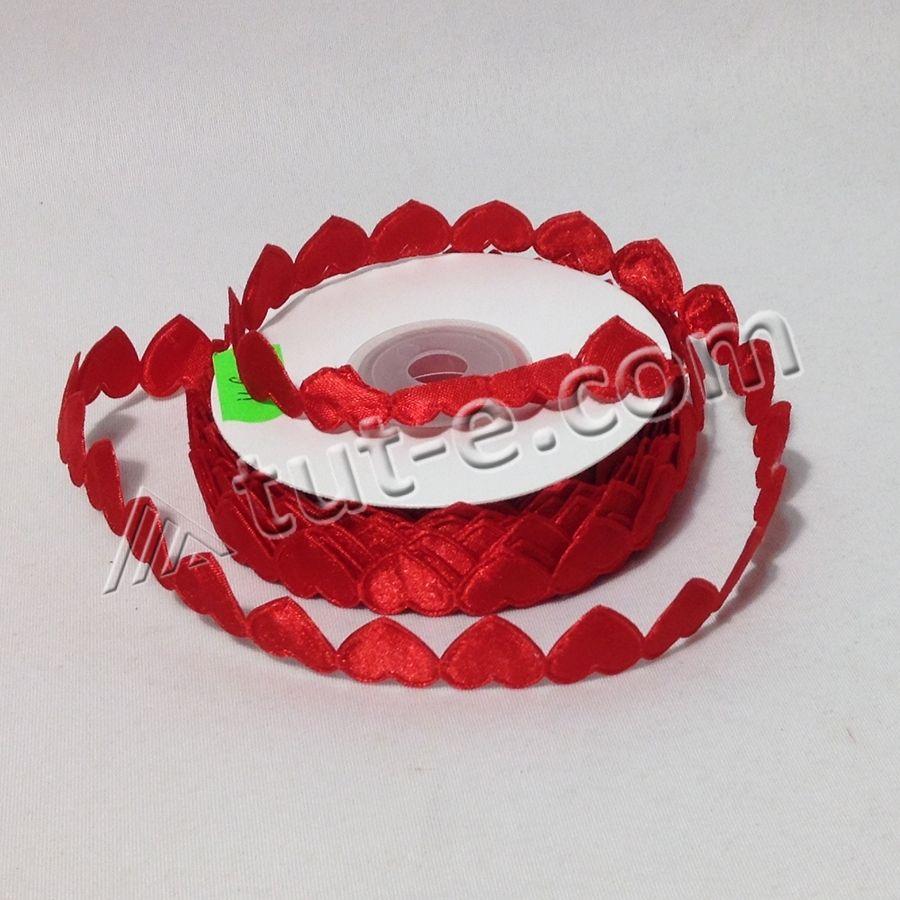 Лента декоративная Сердечки 1.5см