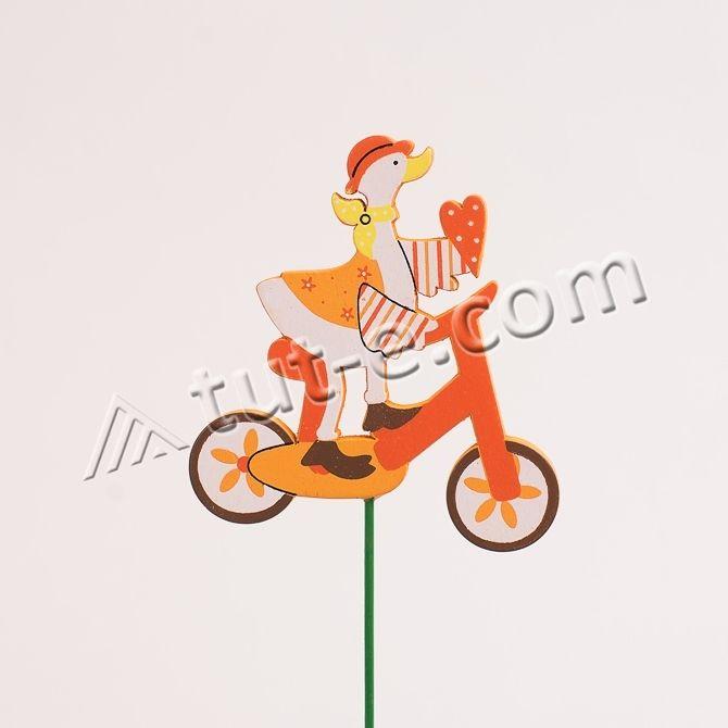 Гусь на велосипеде