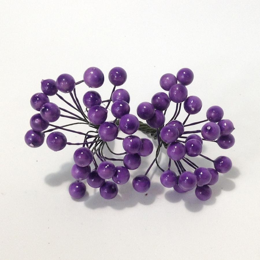 Ягодка калина фиолетовая - 8мм
