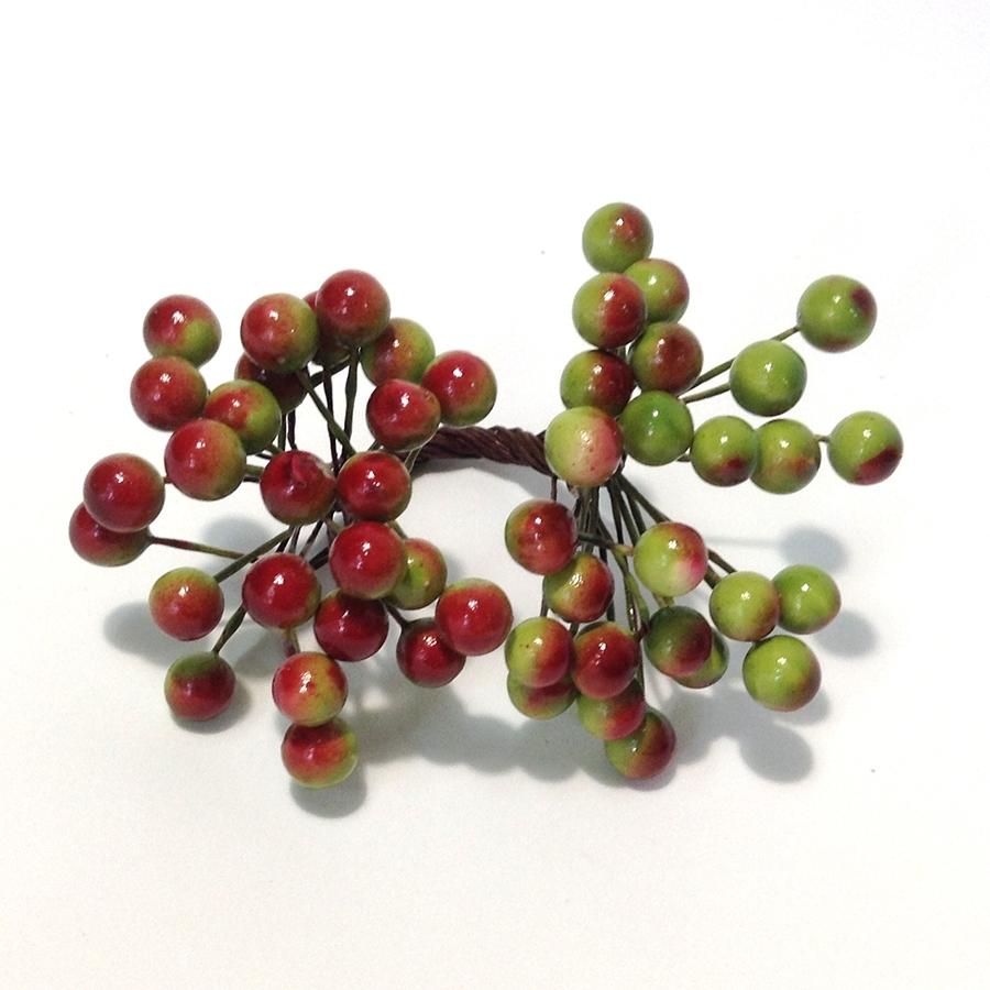 Ягодка калина оливково-бордовая - 8мм