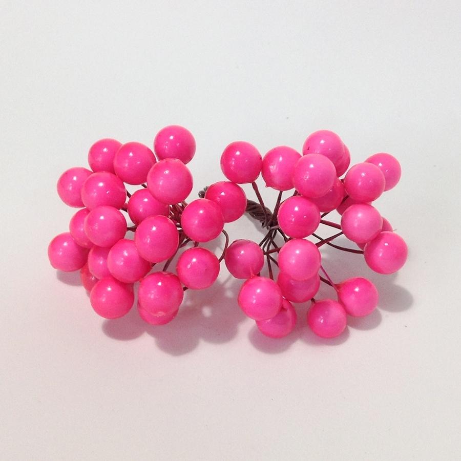 Ягода калина ярко-розовая - 10мм