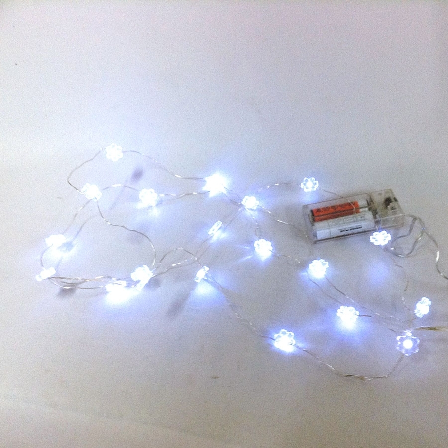 Гирлянда с LED лампочками 2м на батарейках