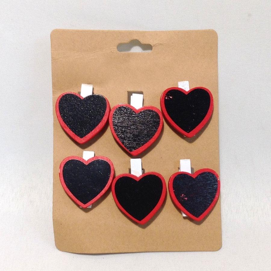 Декор Сердце -табличка 3.5см -6шт