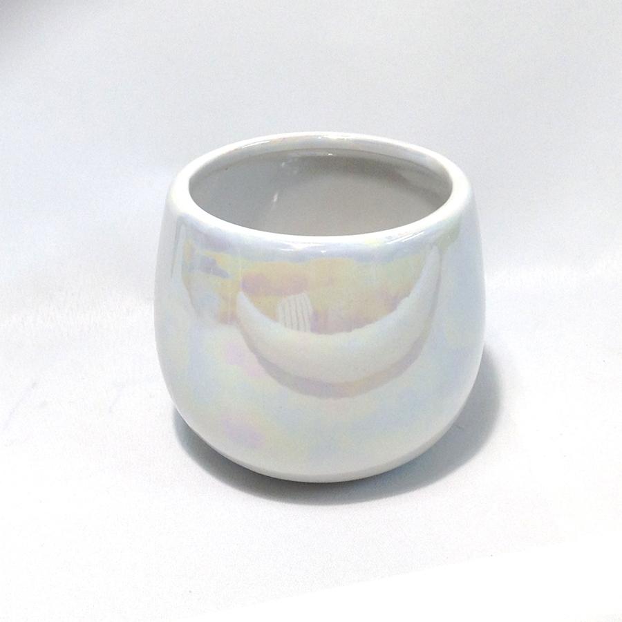 Ваза керамическая c перламутром 13х12см