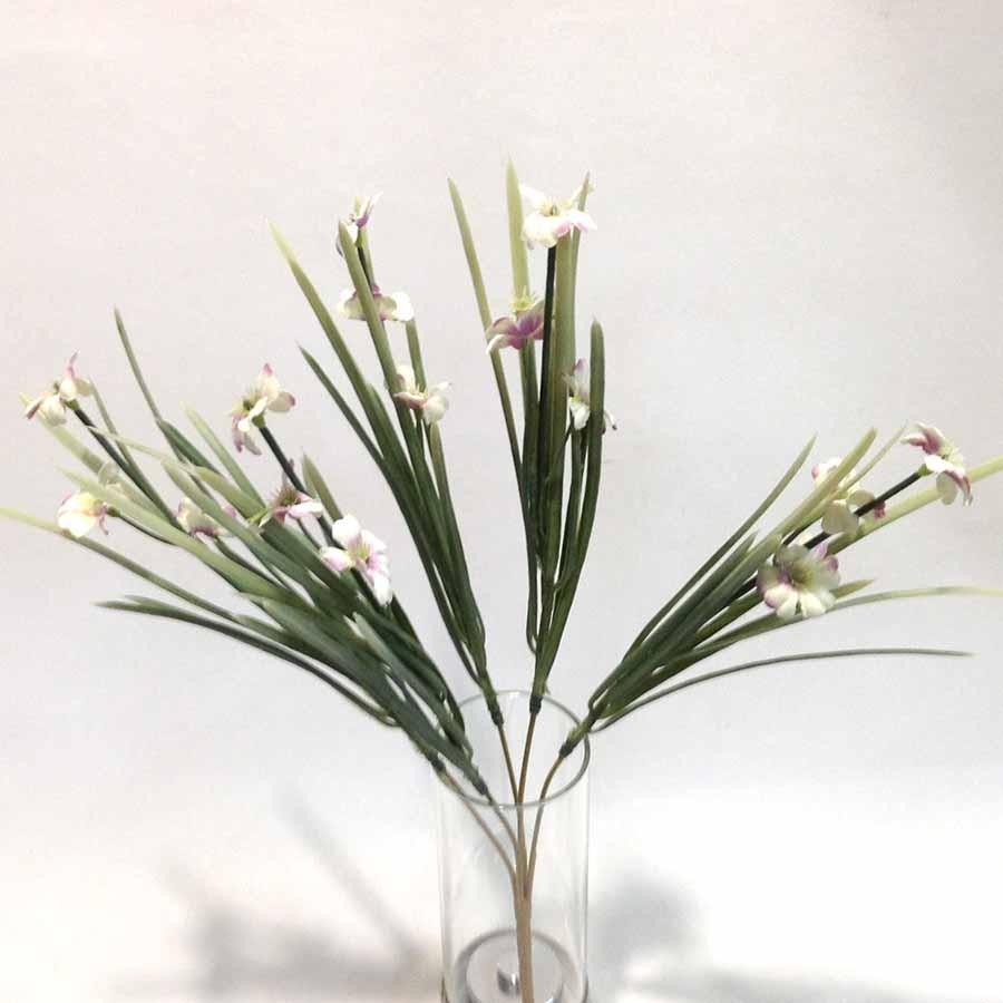 Куст травки болотной с розовыми цветами