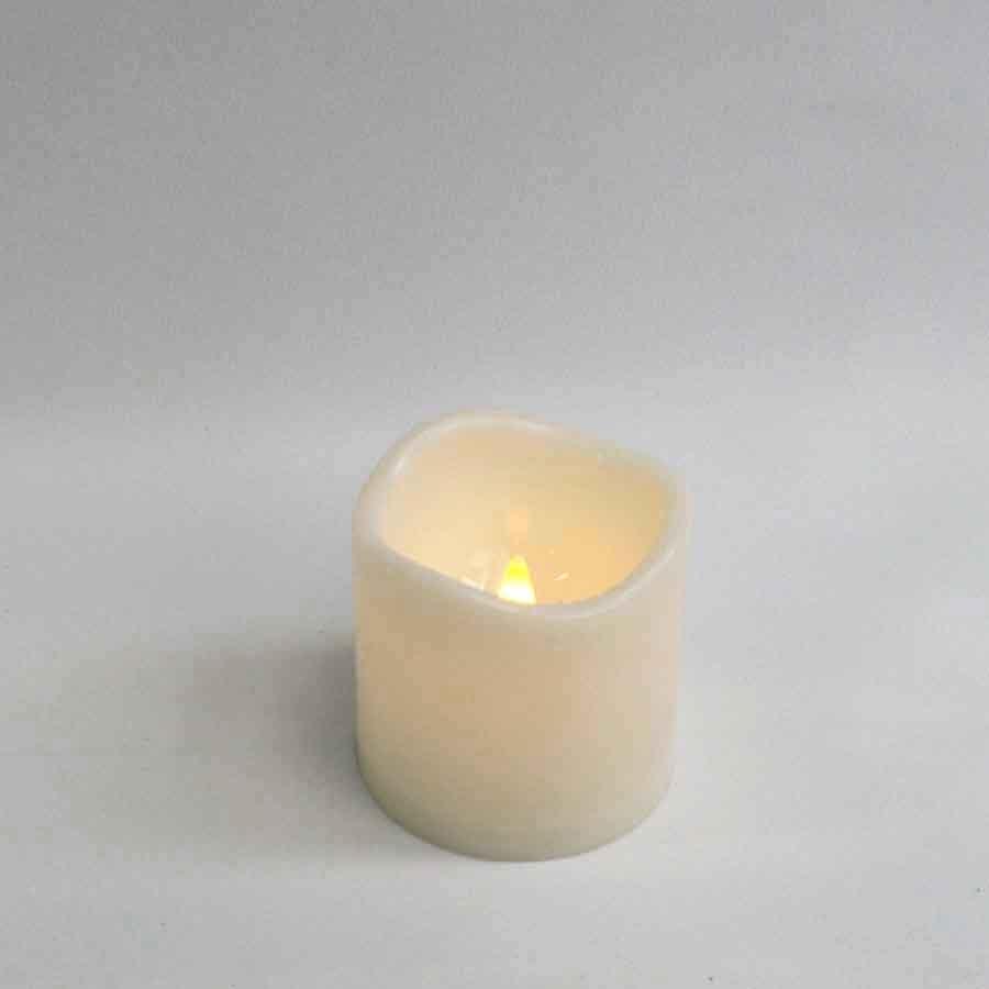 Свеча с led подсветкой(маленькая) 7,5х7,5см