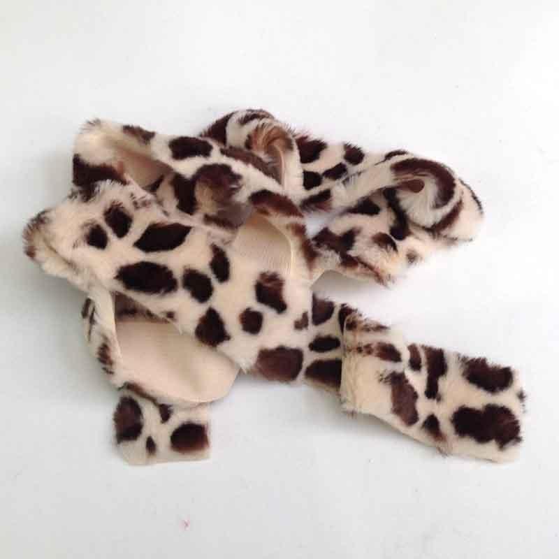 Лента меховая 5см -1,5м леопардовая
