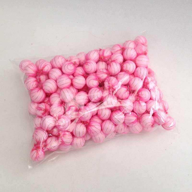 Шарики 1,5см в розовой органзе для рукоделия - упаковка 200шт