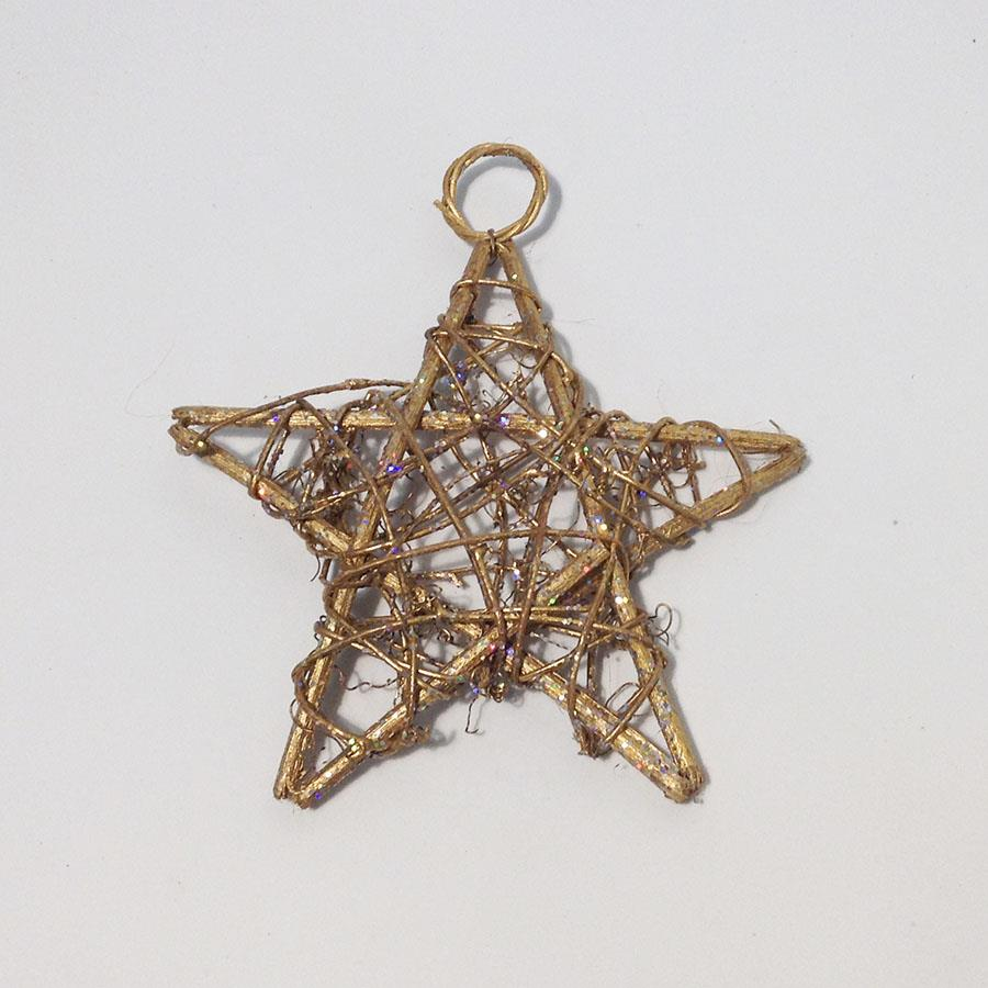 Звезда из лозы с колечком 12см