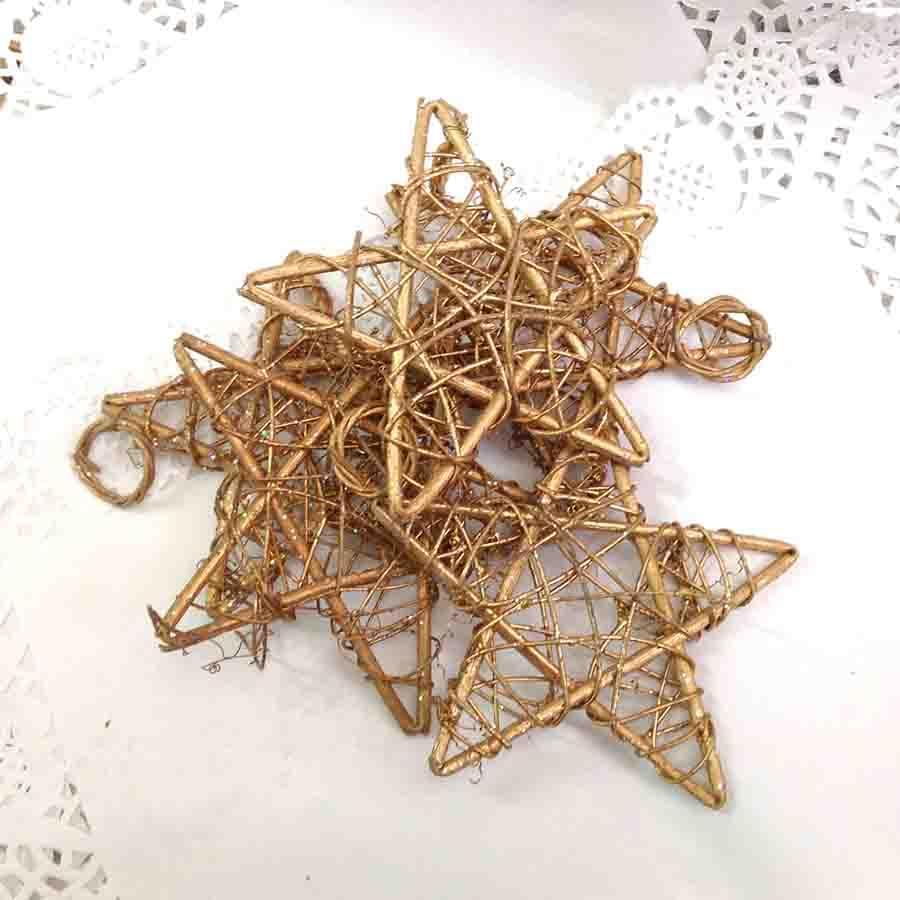 Звезда из лозы с колечком 15см - упаковка 10шт