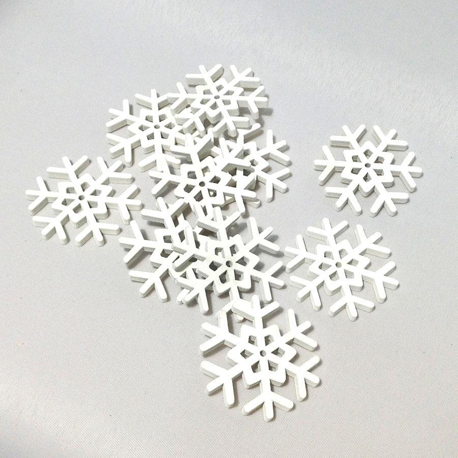Набор снежинок 10шт -5см