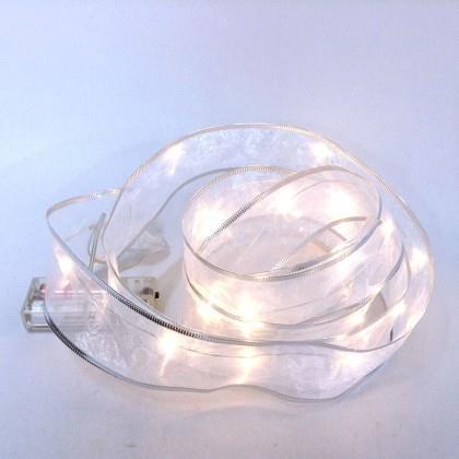 Гирлянда с LED лампочками в ленте 2м на батарейках