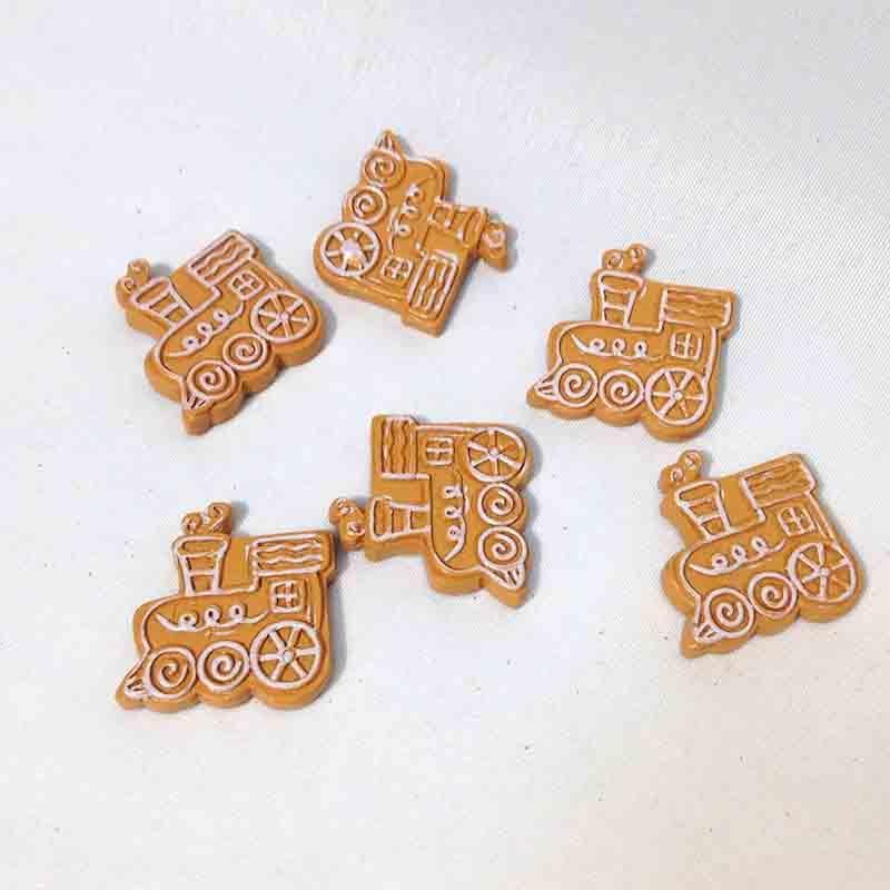 Декор Новогоднее печенье Паровозики