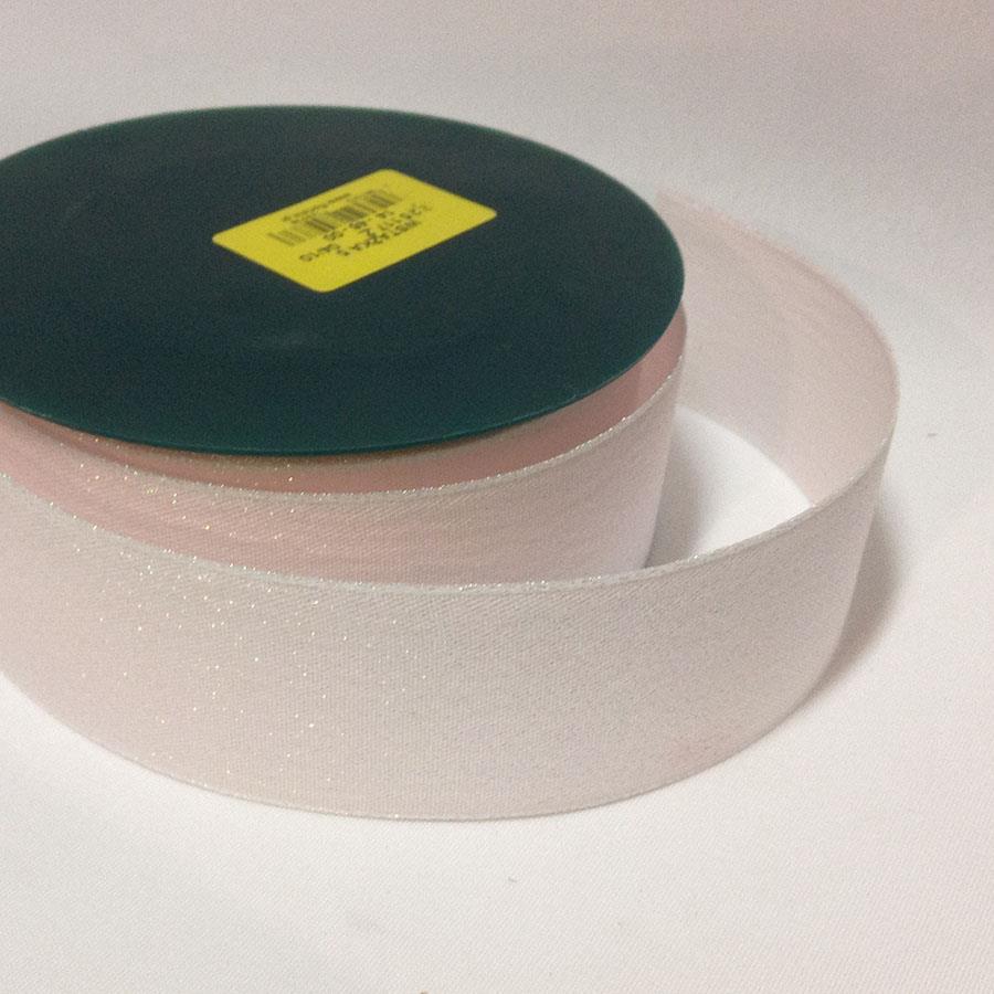 Лента тканевая с парчовой ниткой 3см - 1м