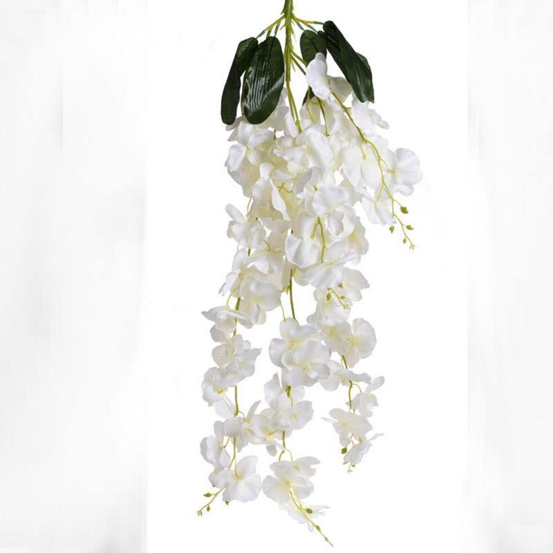 Куст белой орхидеи 90см