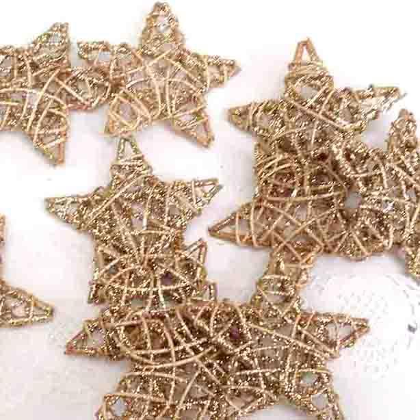 Звезды из лозы для новогоднего декора