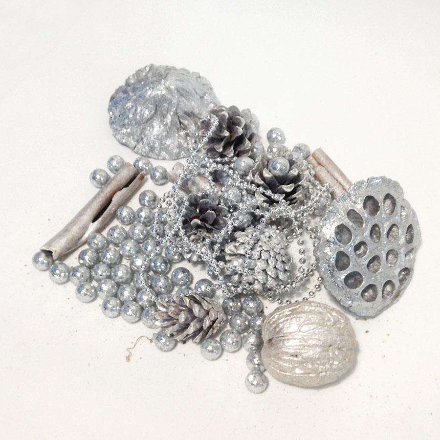 Набор для декора в серебре