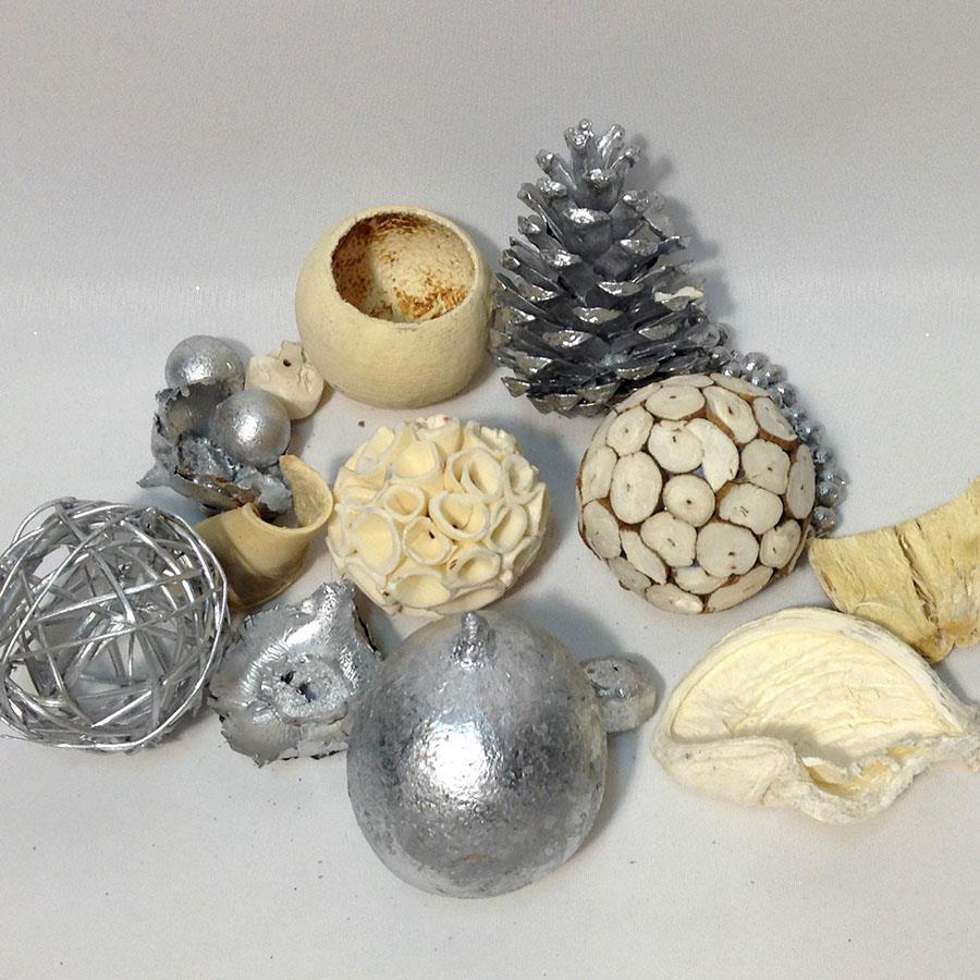 Набор для декора серебро