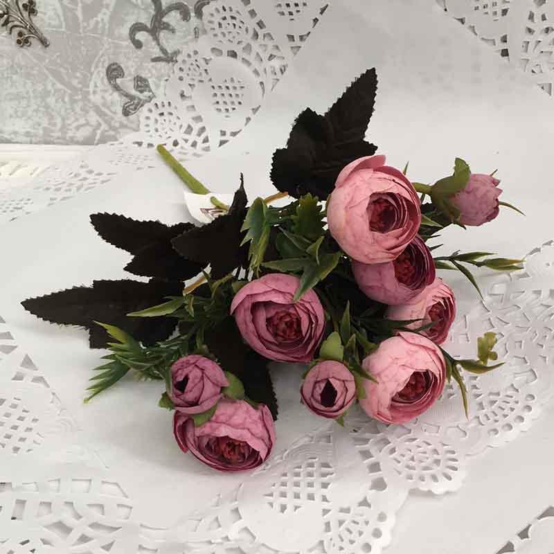 Букетик ранункулюсов пудрово-розовый