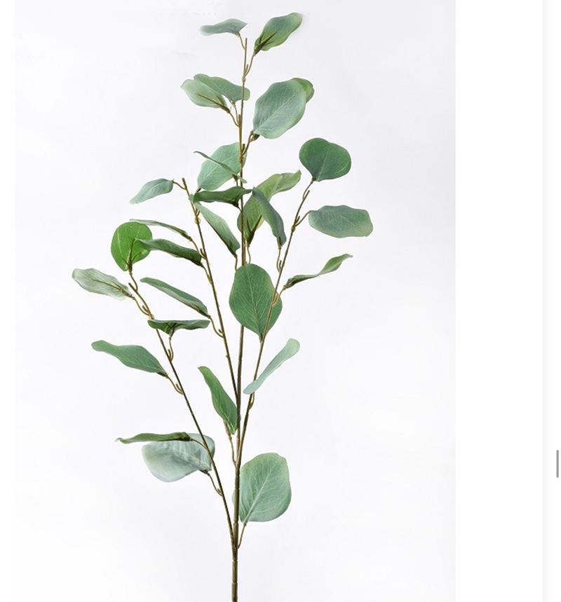 Ветка эвкалипта  светло-зеленая 90см